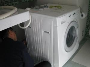 洗濯機の据え付け